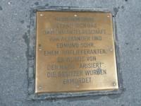 A Stolperstein plaque