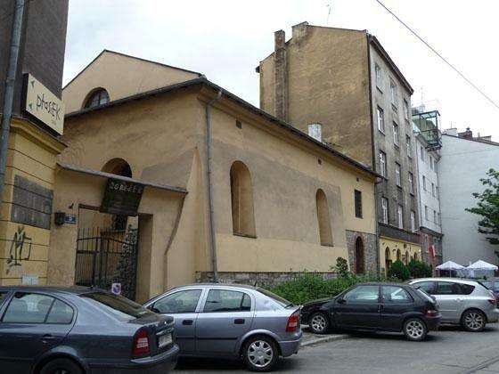 Back facade of Popper Synagogue in ul. Dajwór - Krakow