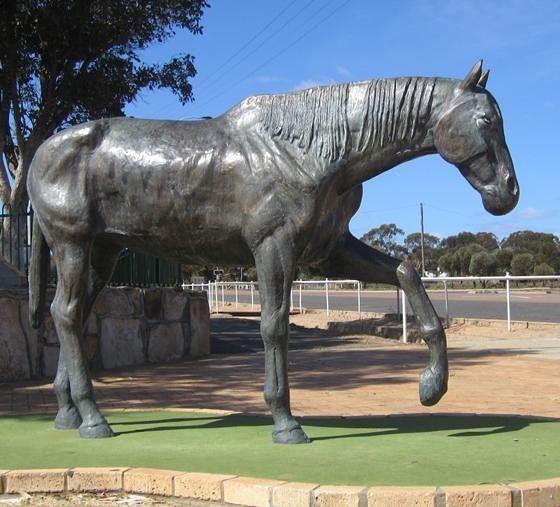 Monument To A Four-legged Gold Seeker
