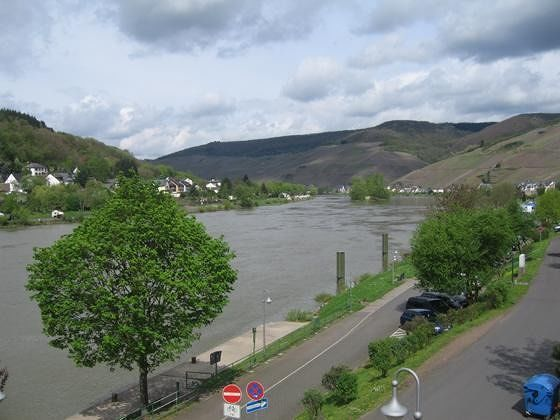 Mosel valley seen from Zell - Zell