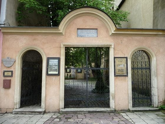 Gate to the courtyard of Popper Synagogue - Krakow