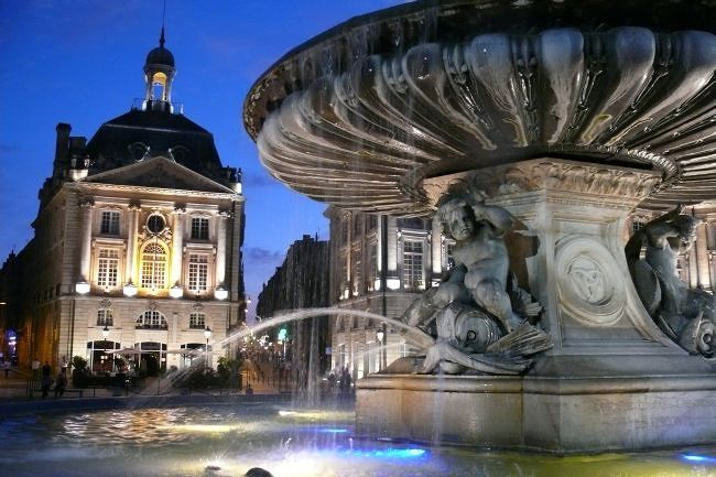 Place de la Bourse at night - Bordeaux
