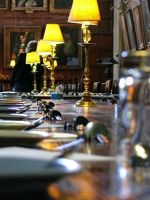 Laid tables in Christ Church Hall - Oxford