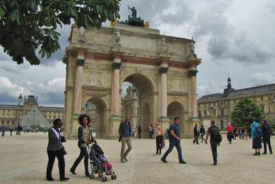 Place du Carrousel at the Louvre Museum