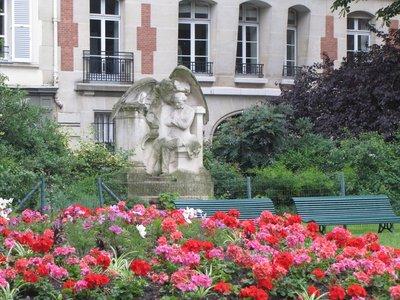 Statue of César Franck in front of Basilique Sainte Clotilde