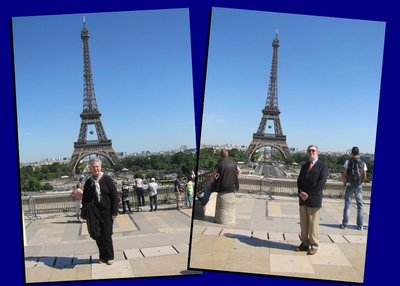 Posing on the Trocadero . . . great background