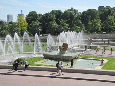 Fountains in the Jardins du Trocadéro