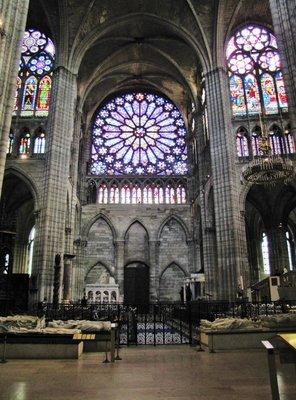 North Transcept Rose Window at Basilique Cathédrale de Saint-Denis