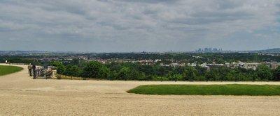 Distant Paris from the gardens of Château de Saint-Germain-en-Laye
