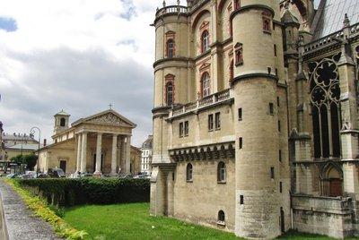Church from behind the Château de Saint-Germain-en-Laye