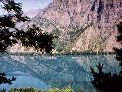 Lac Serre-Ponçon in the Alps