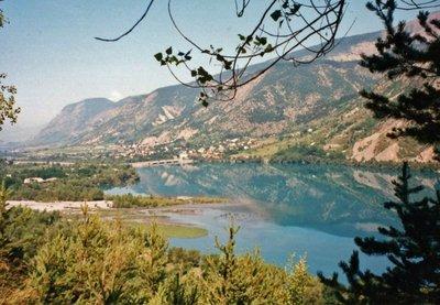 Lac de Serre-Ponçon driving to Jausiers