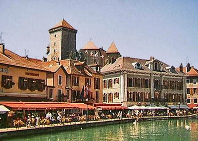 Annecy Château looming above the village