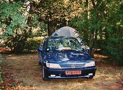 Campground at Le Cathare near Belflou, France