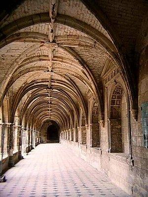 Cloister Walk at Abbaye Royale de Fontevraud