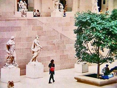 Sculpture Gallery in the Louvre Museum - Paris