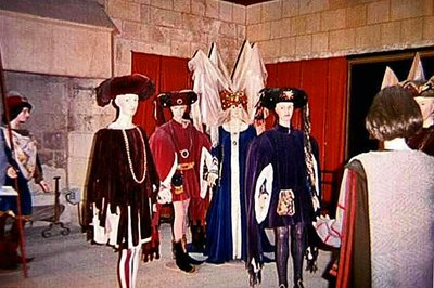 Medieval Costumes inside Chinon Castle