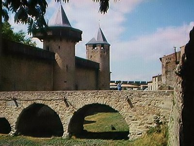 Bridge inside La Cité at Carcassonne
