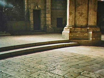 Ancient floor of Chartres Cathedral, polished from a thousand years of footsteps