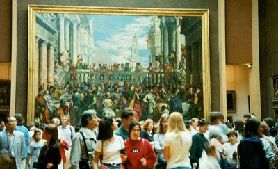 Crowds in the Louvre Museum - Paris