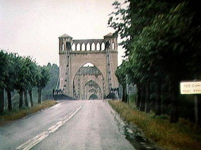The very Gothic-looking bridge as you approach Langeais