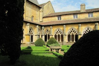 Cloisters of the Abbey at Cadouin in the Dordogne