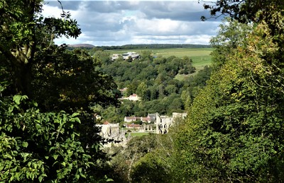 Rievaulx Abbey from Rievaulx Terrace viewing point