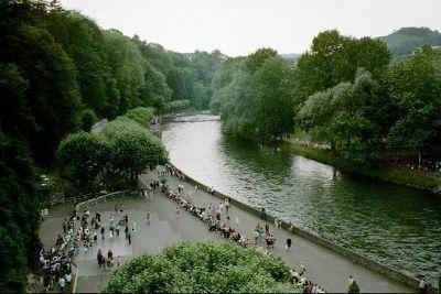 The River Gave de Pau at Lourdes