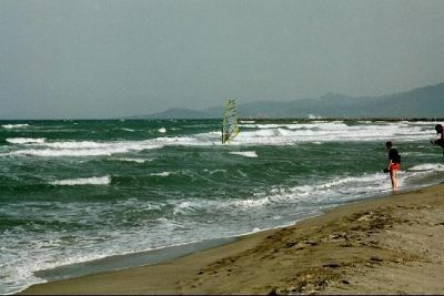 Surf at Canet-Plage, our favorite beach in France
