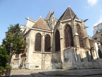 Église Saint Gervais et Saint Protais from rue des Barres (the back)