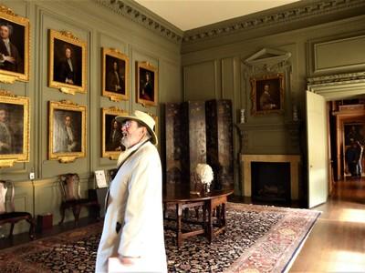 Beningbrough Hall - Admiring paintings