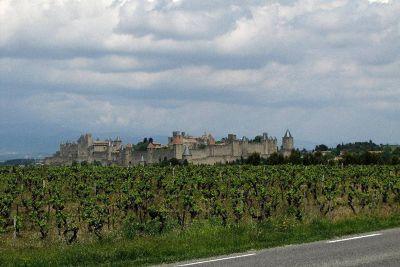 La Cité at Carcassonne driving to Saint-Hilaire