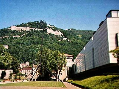 Grenoble Fine Arts Museum with the Citadelle above