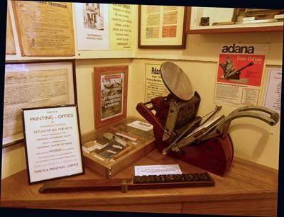 Printing Press at the Beck Isle Museum