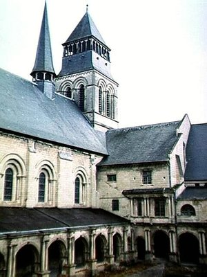 Abbey Church from the Cloisters at Abbaye Royale de Fontevraud