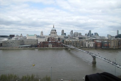Lunchtime view of St. Paul's from the Tate Modern