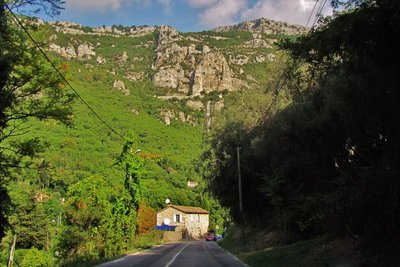 Waterfall between Tourrettes-sur-Loup and Grasse