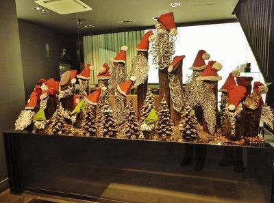 Patrick Rogers Chocolate Christmas display