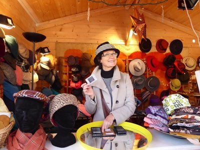 The lady who sold me my hat.