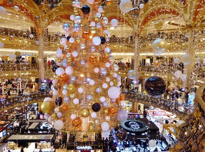 Galeries Lafayette, Paris, 2015 Christmas Tree