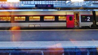 Gare de l'Est, Paris on the way to Strasbourg
