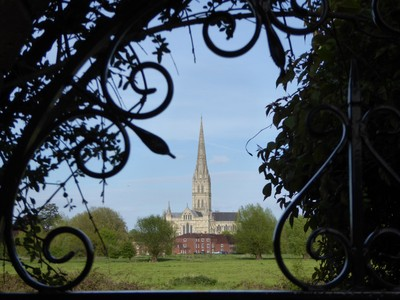 Salisbury Cathedral from Island Cottage