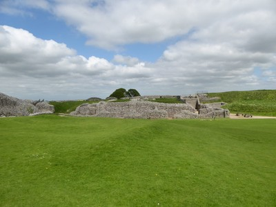 Ruins at Old Sarum near Salisbury