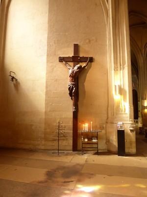 Église Saint-Gervais-et-Saint-Protais<br />Oak Crucifix by Antoine-Augustin Préault