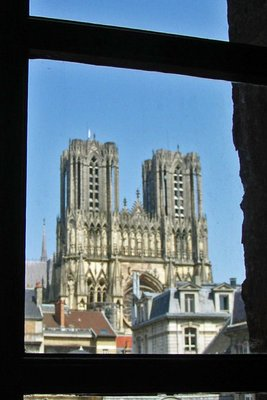 Cathedral Notre Dame from the Beaux Arts<br />Museum in Reims