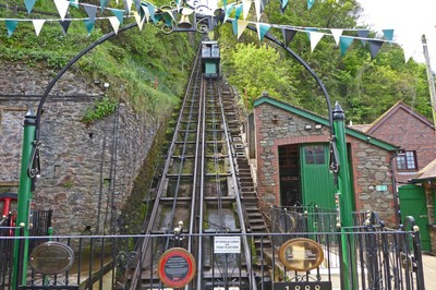 The Cliff Railway, the world's steepest water-powered railway