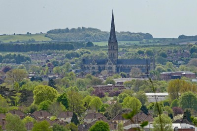 Salisbury Cathedral from Old Sarum