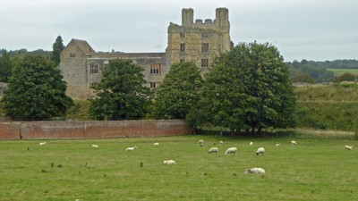 Helmsley Castle from Duncombe Park Estate outside Helmsley