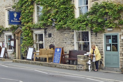 The Feathers Hotel in Helmsley and a very cute little dog