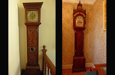 Two of the Seventeen Grandfather Clocks in Trerice House